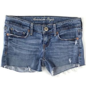 American Eagle AEO Custom Cutoff Jean Shorts